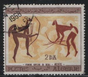 ALGERIA, 346, USED, 1966, Bulls painted in 6000 B.C