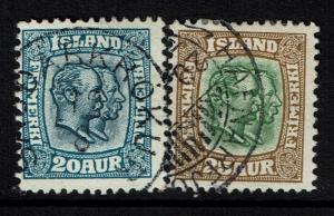 Iceland SC# 79 and 80, Used, Hinge Remnant - Lot 040217