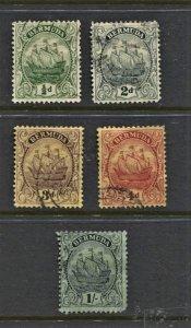 STAMP STATION PERTH Bermuda #82,85,89,90,92 Caravel Used CV$16.00