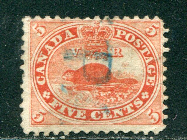 Canada 15 Used F-VF  PAID  cancel   Lakeshore Philatelics