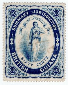 (I.B) British Guiana Revenue : Summary Jurisdiction 60c (1883)