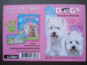 AU 2004, CATS & DOGS SG SB173, CV £6.50, FREE STD SHIP W/W