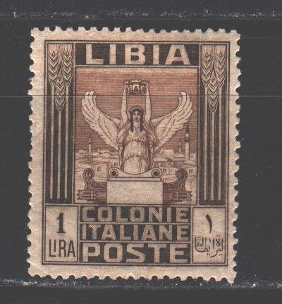 Libya. 1921. 33 from the series. Statue of victoria. MLH.