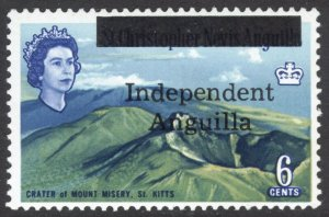 Anguilla 1967 6c Independence SG 7 Scott 7 UMM/MNH Cat £120($156)