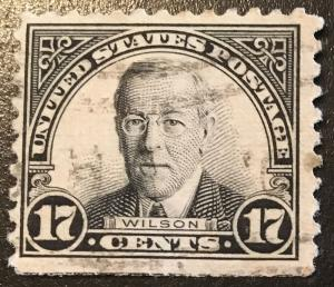 697 1922 Americans Series, 11x10.5 perf., Circ. single, Vic's Stamp Stash
