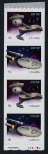 Canada 2914a starter strip MNH Star Trek, Enterprise