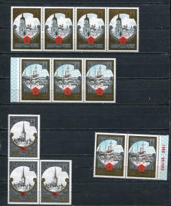 Russia 1980 Moscow Olympics Kiev Tallinn in block of  2 and 3 and 4 MNH 7277