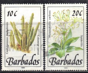 BARBADOS SC# 755+56   USED  1989-92  SEE SCAN
