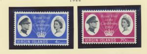 British Virgin Islands Scott #167 To 168, Mint Never Hinged MNH, Royal Visit,...