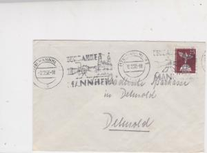 Germany Berlin 1957 Mannheim Town Slogan Cancel Stamps Cover Ref 24458