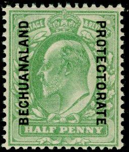 BECHUANALAND SG67, ½d yellowish green, NH MINT.