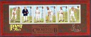 Alderney Sc 105a 1997 Cricket Club stamp sheet NH