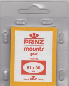 PRINZ CLEAR MOUNTS 51X36 (40) RETAIL PRICE $6.50