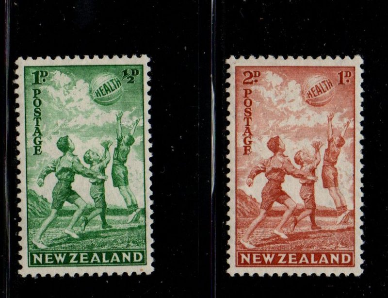 New Zealand Sc B16-17 1940 Health Children Playing stamp set mint NH