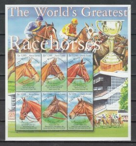 Sierra Leone MNH S/S World Greatest Race Horses