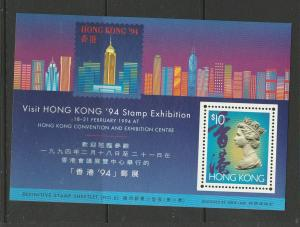 Hong Kong 1993 1994 Exhibition MS UM/MNH SG MS746