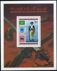 Mauritania C163,MNH.Michel 533 Bl.14. American Bicentennial,1976.Uniforms.