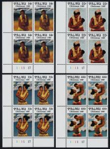 Palau 90-3 BL Plate Blocks MNH Christmas, Mothers & Children