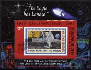 Micronesia C49 MNH Space, Moon Landing, Stamp on Stamp