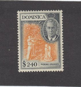 DOMINICA # 136 VF-MXXLH KGV1 $2.40 PICKING ORANGES CAT VALUE $30+