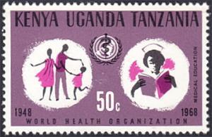 Kenya-Uganda-Tanzania # 186 mnh ~ 50¢ WHO Emblem, Student Nurse