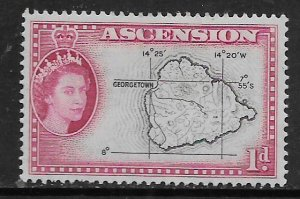 ASCENSION  63  MINT HINGED,  MAP