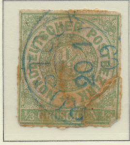 North German Confederation Stamp Scott #2, Used - Free U.S. Shipping, Free Wo...