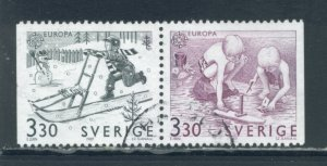 Sweden 1737 - 8 Used Attached Pair (13