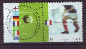 J20452  jlstamps 2002 france set pair mnh #2891 soccer