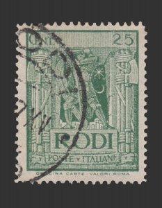 ITALY RHODES 1929. SCOTT # 18. USED. ITEM 1