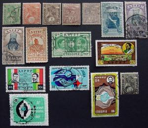 Packet, Ethiopia, 16 Different, Scott 1 // J4a
