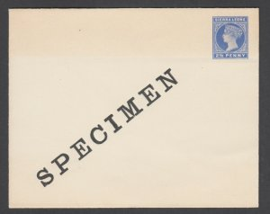 Sierra Leone H&G B2 mint 1899 2½p ultra Queen Victoria SPECIMEN Envelope, shadow