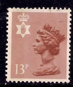 Northern Ireland GB 1984 QE2 13p Pale Chestnut used SG NI 37 ( J439 )