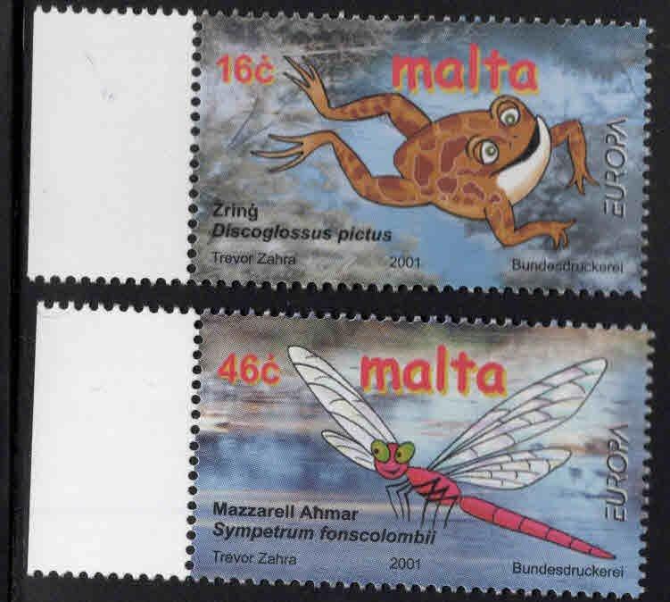 MALTA  Scott 1053-1054 MNH** Europa 2001 set