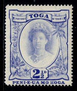 TONGA GVI SG77, 2½d bright ultramarine, M MINT.