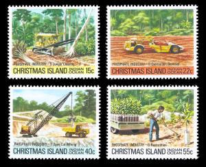 Christmas Island 1980 MNH Sc 99-102 Phosphate Industry 2nd series