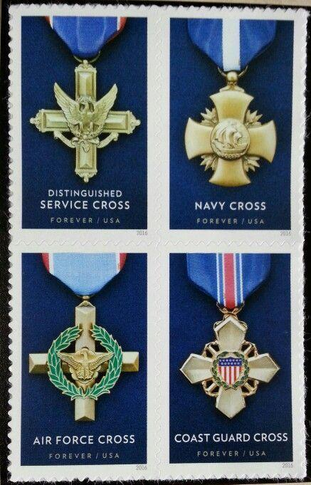 2016 47c Honoring Heroism, Service Cross, Block of 4 Scott 5065-68 Mint F/VF NH
