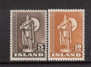 Iceland #230a - #231a VF Mint Duo