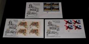 U.N. 2002, NEW YORK & GENEVA, DEFINITIVE INSC. BLKS/4, FDCs,  NICE! LQQK!