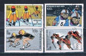 Burkina Faso 533-36 Used set Olympics 1980 (HV0253)+