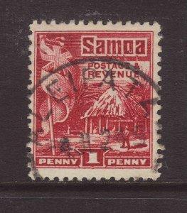 1921 Samoa 1d Perf 14x13½ Aleipata CDS Fine Used SG154