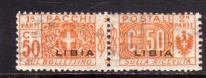 LIBIA 1915 - 1924 PACCHI POSTALI PARCEL POST CENT. 50c MNH