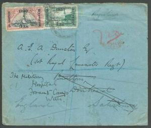 IRAQ 1919 Br Occupation Registered cover to UK.............................10396