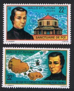 Wallis and Futuna Father Chanel Memorial 2v SG#262-263 SC#193-194