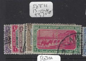 ISUDAN (P2909B) COUNTRY SOUTH OF EGYPT MILITARY TELEGRAPH SG T11, 13-7      VFU