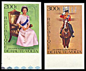 Upper Volta 436-437, MNH imperf., 25th Anniversary Reign of Queen Elizabeth II