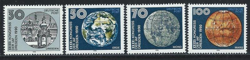 GERMANY - DDR SC# 2849-52 F-VF MNH 1990