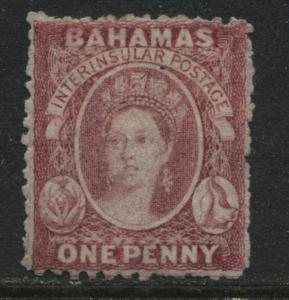 Bahamas QV 1863 1d rose lake mint o.g.