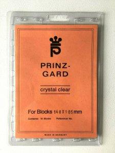 10pcs PRINZ Gard Stamp Strip Mounts Pre Cut Strips / Blocks (148 x 105mm)