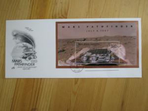 VEGAS -1997 USA First Day - Space Mars - Rare Sheet! - Artcraft Sc# 3178